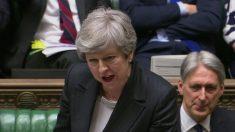 Theresa May en la Cámara de los Comunes @Getty