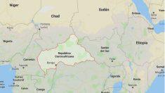 Mapa de localización de la República Centroafricana. Google Maps