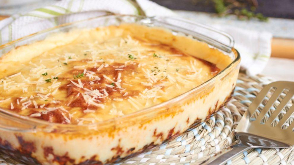 Receta de Patatas con tomate y bechamel