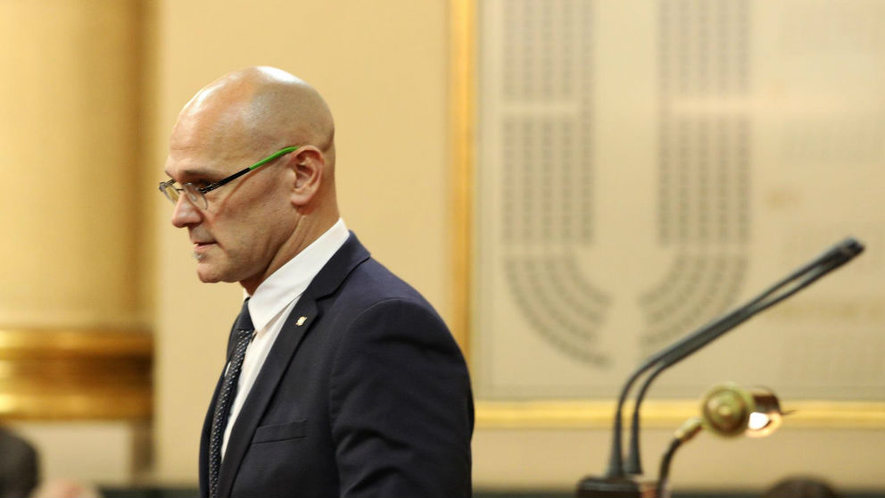 Raúl Romeva tras jurar como senador