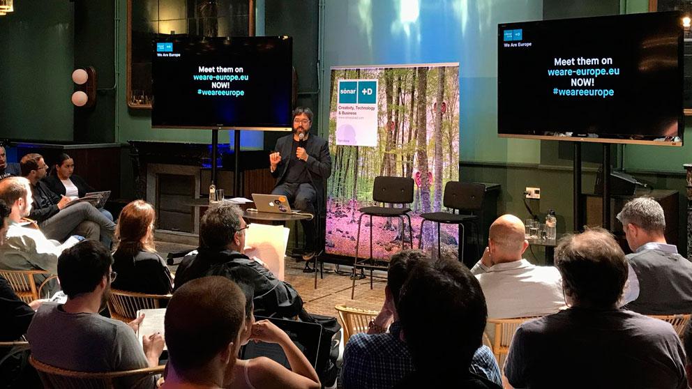 Rueda de prensa de presentación de la programación de Sónar+D Barcelona 2019. Foto: EP