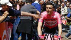 Valerio Conti, líder del Giro de Italia. (AFP)