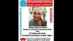 Cartel de la desaparición de Roberto García