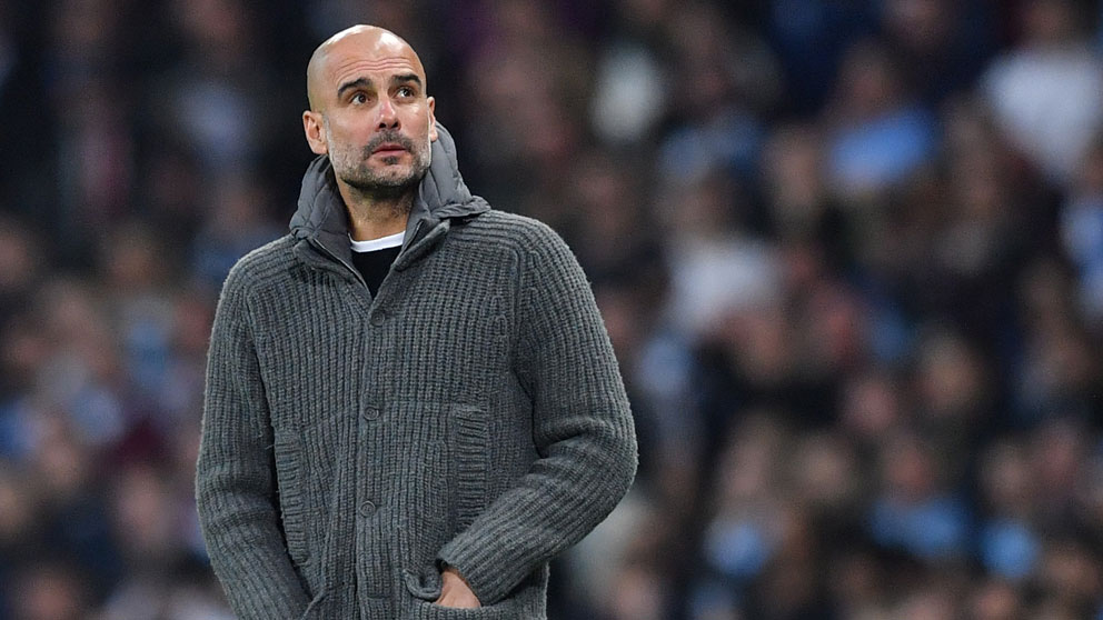 Guardiola, en un partido con el Manchester City. (AFP)