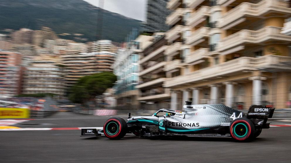 Lewis Hamilton en el GP de Mónaco. (AFP)