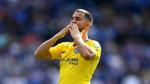 Hazard durante el último partido de Premier del Chelsea (Getty).