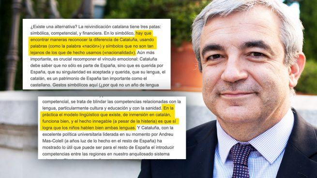 "Garicano defendió por escrito en 2014 que se catalogue a Cataluña como ""nación"""
