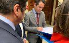 García Egea, hoy, en el registro del Congreso. Foto: Joan Guirado