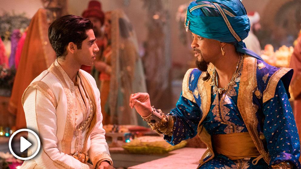 Will Smith encarna al Genio de 'Aladdin' más bromista en la versión en acción real del clásico de Disney.
