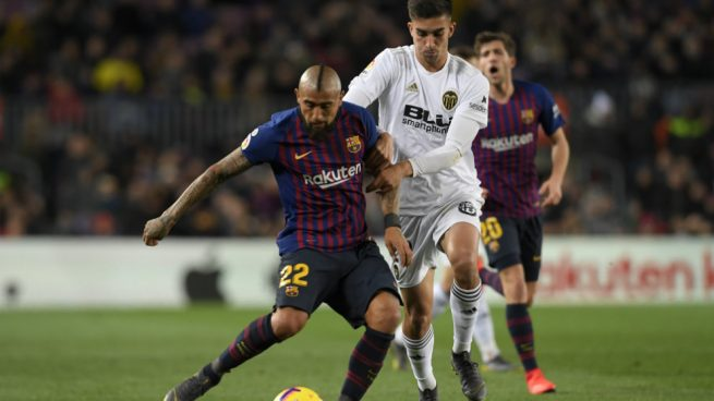 Imagen de un partido entre el Barcelona y el Valencia