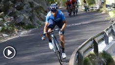 Mikel Landa durante una etapa del Giro de Italia. (AFP)
