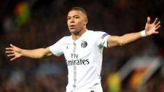 Mbappé celebra un gol. (Getty)