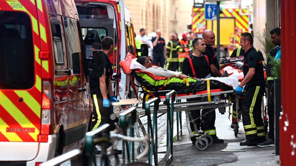 Atentado terrorista en Lyon (Foto: AFP)