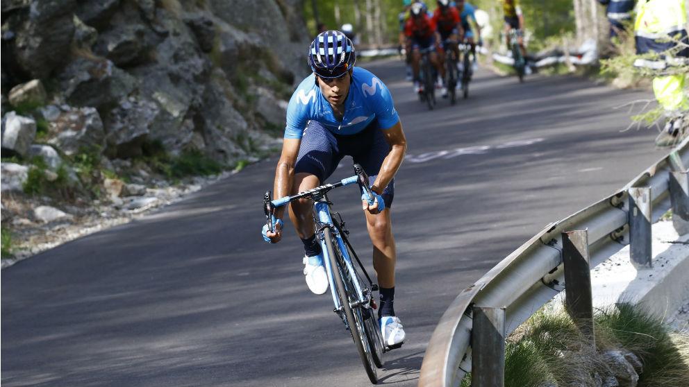 Mikel Landa, durante una etapa del Giro de Italia. (AFP)
