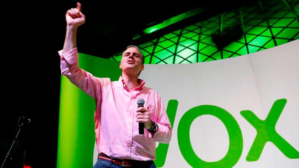 El candidato de Vox a la alcaldía de Madrid, Javier Ortega Smith. Foto: EFE