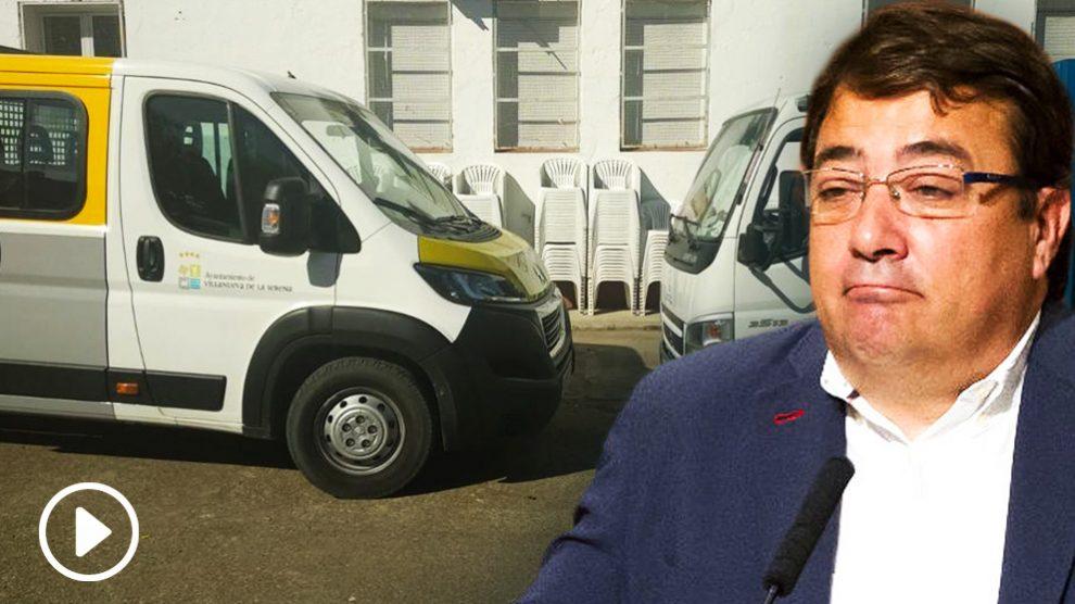 Guillermo Fernández Vara utiliza medios públicos para la organización de su mitin de cierre de campaña.