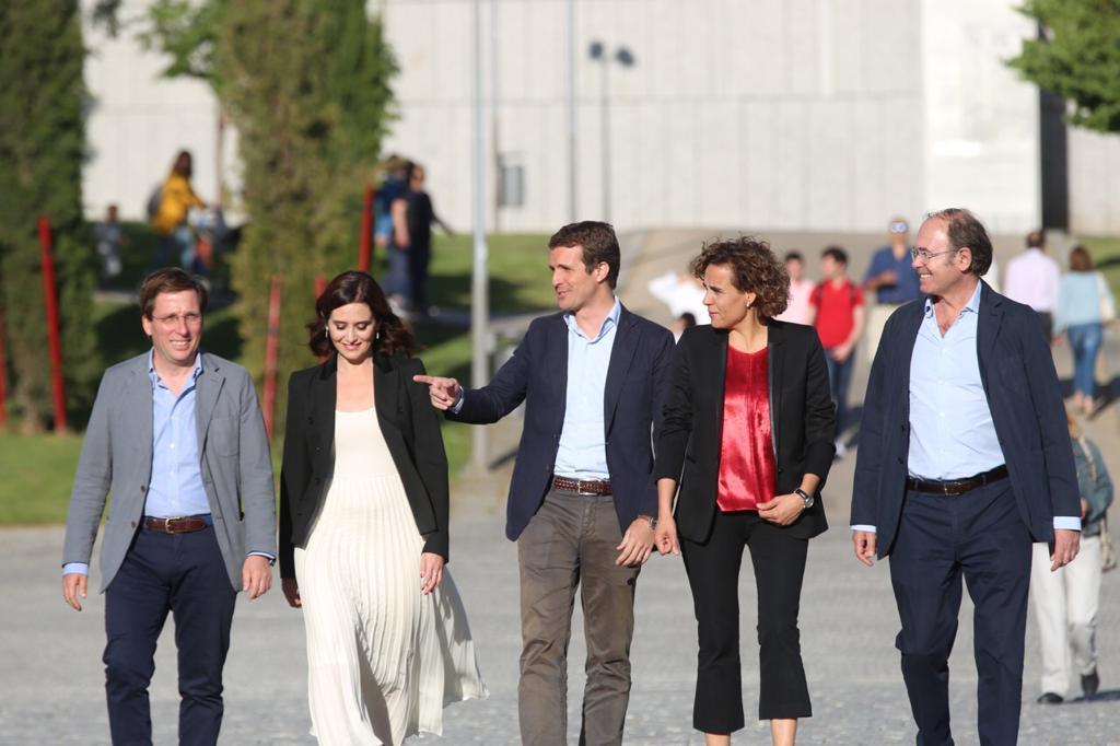 Los participantes del mitin del PP de cierre de campaña. (Foto. PP)