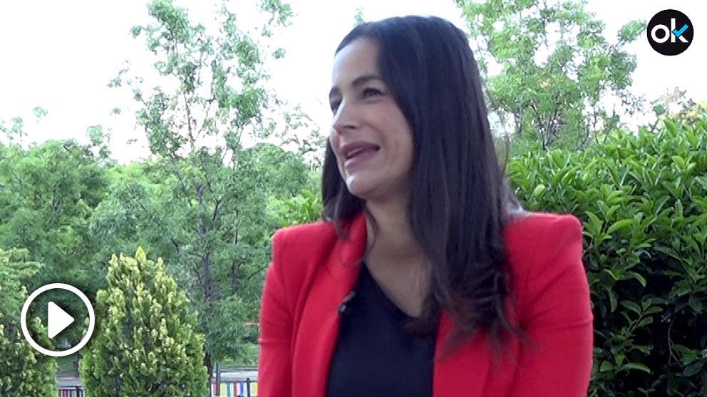 Begoña Villacís, en un momento de la entrevista con OKDIARIO.