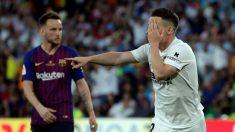 Kevin Gameiro celebra su gol en la final de la Copa del Rey Barcelona – Valencia. (EFE)