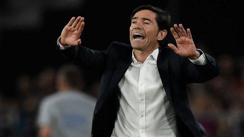 Marcelino, durante la final de Copa. (AFP)