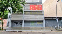 Pintadas en la sede del PSC de Barcelona