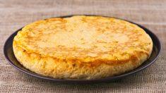 Receta de Tortilla de patatas con cuatro quesos