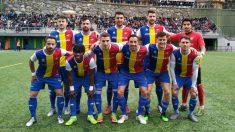 El FC Andorra, antes del partido decisivo.