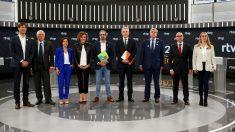 Los candidatos a las elecciones europeas en el debate organizado por RTVE.