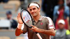 Federer disfruta de su victoria en Roland Garros. (Getty)