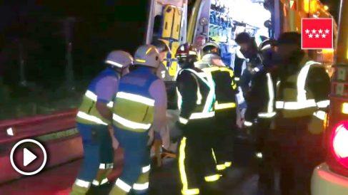 Accidente en San Agustín de Guadalix.