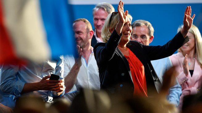 Le Pen derrotó a Macron en elecciones europeas
