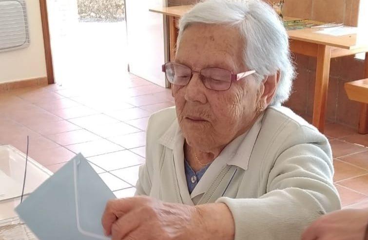 María Dolores García, vecina de Sober, Lugo, de 105 años de edad. @EP