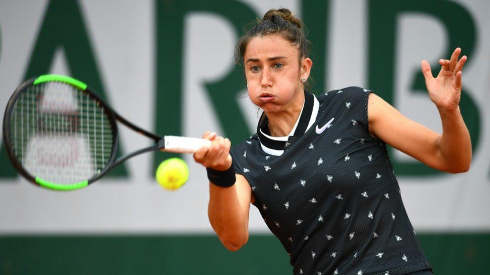 Sara Sorribes, en su partido de primera ronda. (Getty)