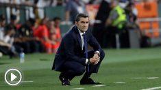 Valverde, durante la final de Copa. (AFP)