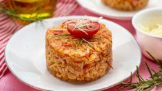 Receta de arroz con pisto