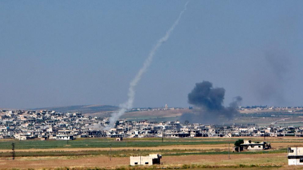 Ataques en la zona siria de Hama (Foto: AFP)