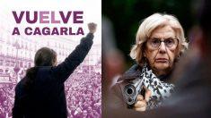 Dos de los mejores memes dedicados a Pablo Iglesias y Manuela Carmena sobre su resultado en las elecciones autonómicas y municipales 2019.
