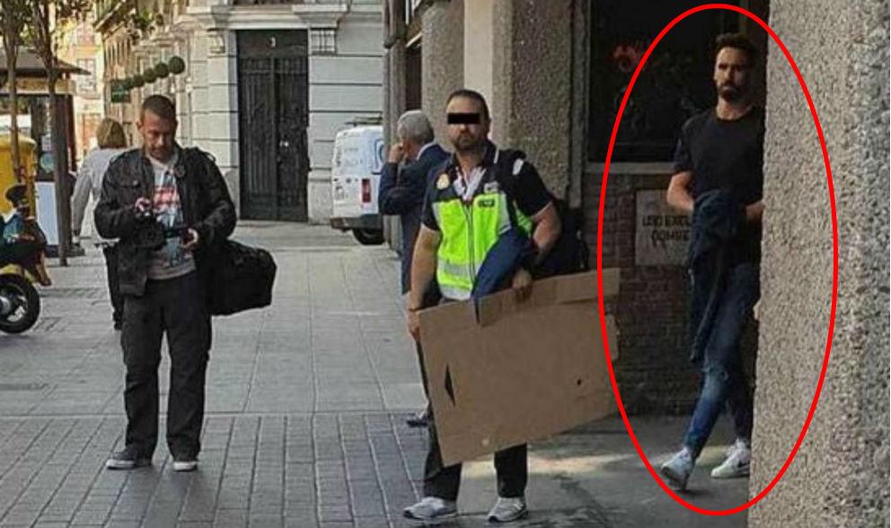 Borja Fernández, en el momento de ser detenido el pasado martes. (Twitter)