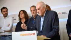 Ernest Maragall, líder de ERC en Barcelona, en una rueda de prensa. @Twitter