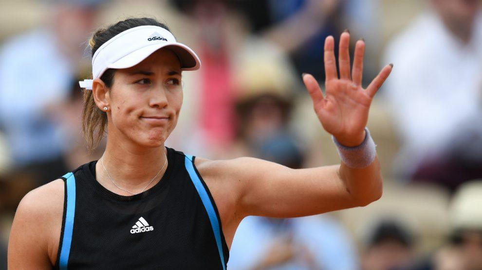 Garbiñe Muguruza inicia la jornada española del miércoles en Roland Garros (AFP).