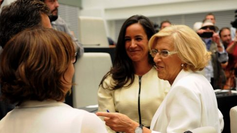Begoña Villacís junto a Manuela Carmena. (Foto. Madrid)