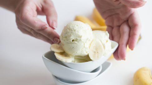 Receta de Helado de plátano casero