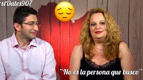Andrés ha sorprendido a Ruth en 'First Dates'