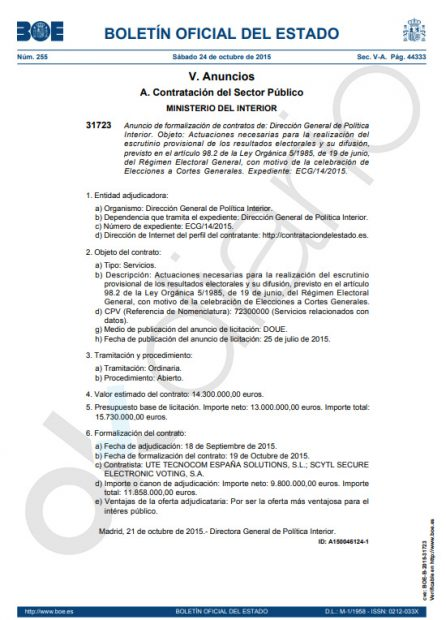 La Guardia Civil investigó a la empresa chapucera del escrutinio del 26-M por el referéndum del 1-O