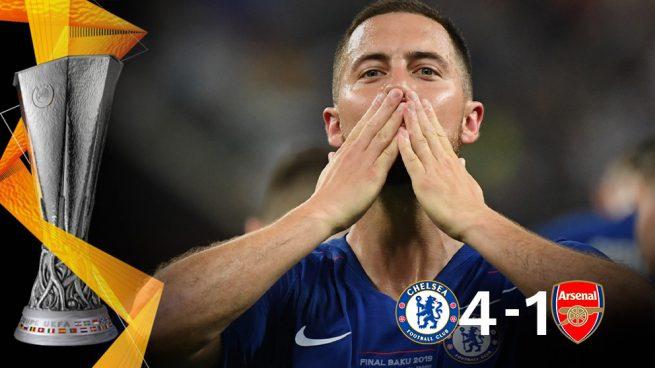 Hazard no tiene precio: se despide con la Europa League y una exhibición