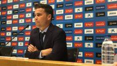 Francesc Rubi en rueda de prensa (RCD Espanyol)