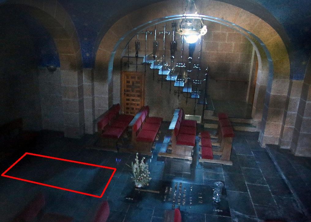 Imagen de archivo de la cripta y ubicación del nuevo nicho. (Foto. Ara)