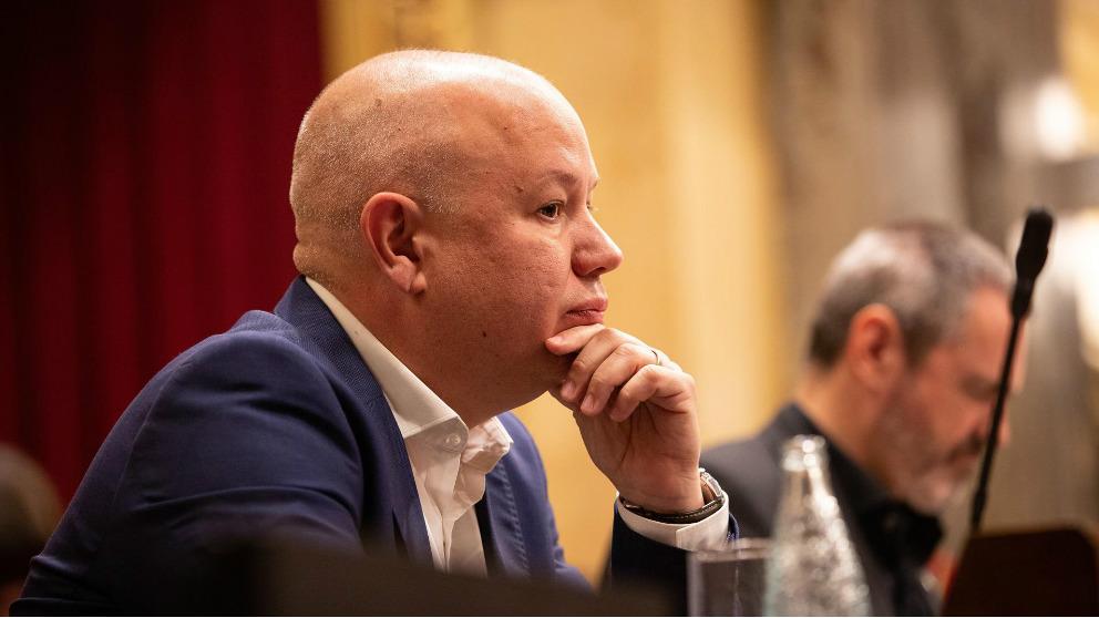 El hasta ahora secretario tercero de la Mesa del Parlament, Joan García (Cs), ha sido nombrado este miércoles vicepresidente segundo, en sustitución de José María Espejo-Saavedra. Foto: EP
