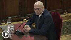 La reacción del golpista Romeva tras su suspensión: «El autoritarismo ha ganado a la democracia»