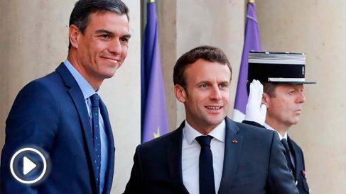 Pedro Sánchez y Emmanuel Macron (Foto: AFP)